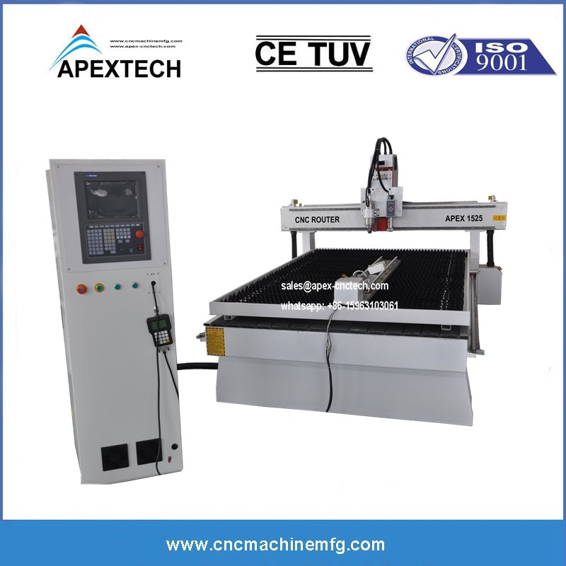 1325 wood cnc router combined wiht the plasma steel cutting machinery
