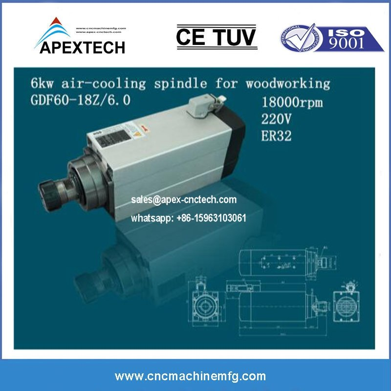 HQD 3.5KW aircooling spindle cheap price