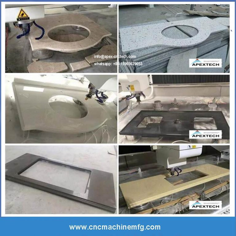 CNC machining center is used for cutting and polishing stone such as cabinets artificial stone, quartz stone countertops, granite, marble and sink (3)