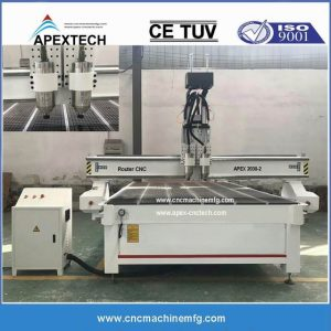 2030-2satc Two-Spindles Wood Carving Multi-Use Woodworking CNC Router