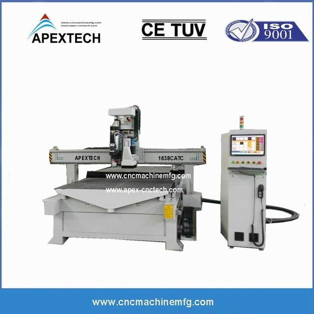 4 Axis CNC wood router with ATC system is used for ...