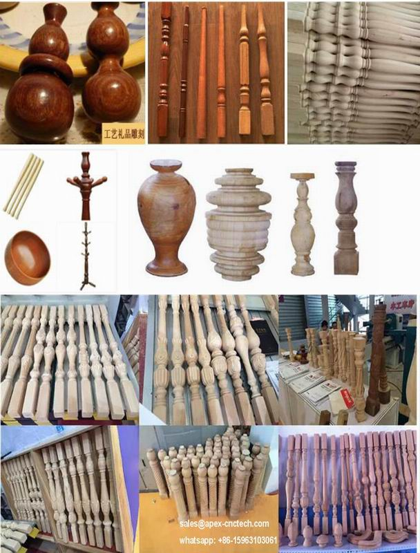 China cheap hot sale durden wood lathe machine chair legs samples