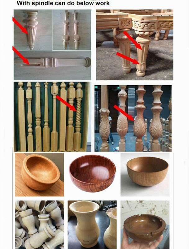 Various cylinderical workpiece, bowl sharp, tubular sharp and vehicle wood crafts samples