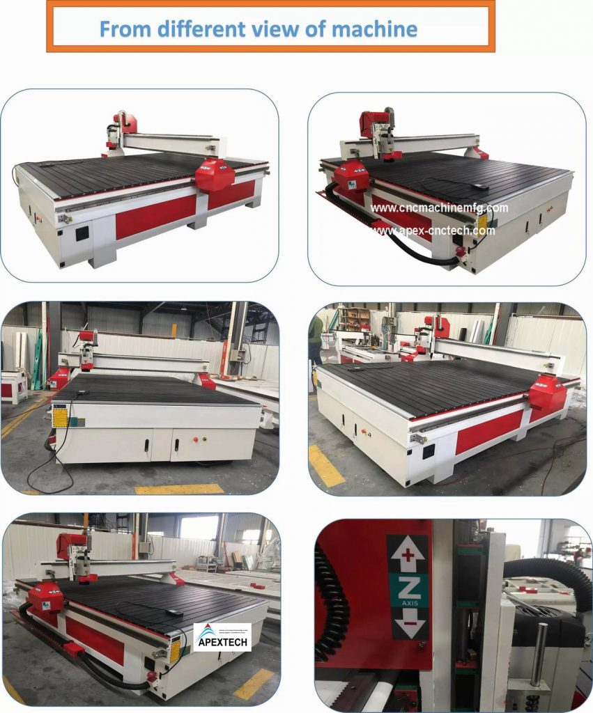 Pneumatic Auto Tool Changing Wood CNC Router Machine with 4 Spindles