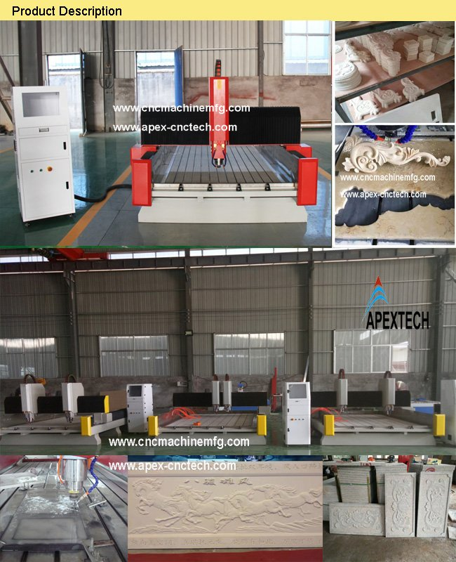 1325 High speed wood cnc routercnc carving marble granite stone machine