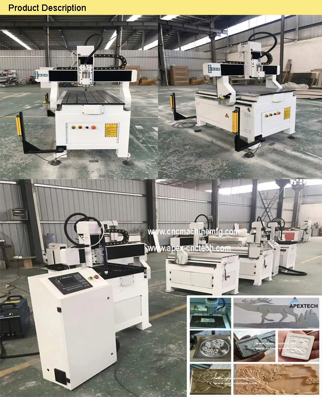 A6090 Sign Making Mini Cheap Factory Cnc Router Cheap Price for Wood Stone Aluminum board Plastic Density board Wave board PVC PCB