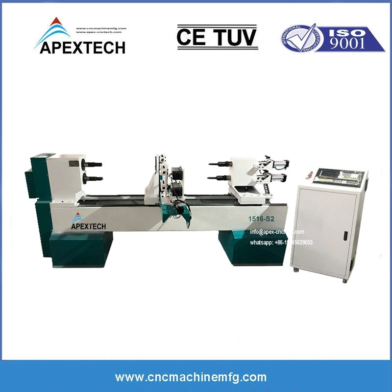 B1516 Two Axises Double Spindles Cnc Wood Lathe Engraving Twisting Machine