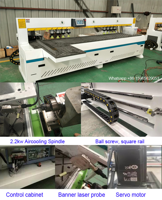 Deep Hole Drilling Machine Dual Spindles Hinge Hole CNC Router