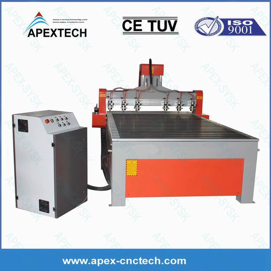 1530-6 Spindles Acrylic Wood MDF 3D CNC Router Machinery