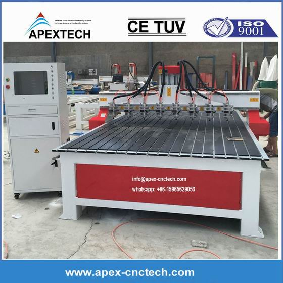 1825 multiple heads cnc router manufacture China SYSK APEXTECH