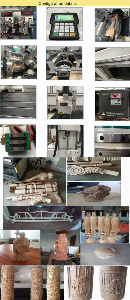 4 Axis 3D 1530 CNC Router for Wood, Woodworking, Advertising 4X8 Feet details