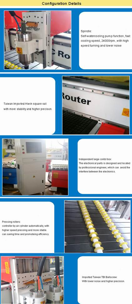 4X8FT Wood CNC Router Wood Doors, Cabinets, Furnitures, Decorations, Tables, Chairs and Windows