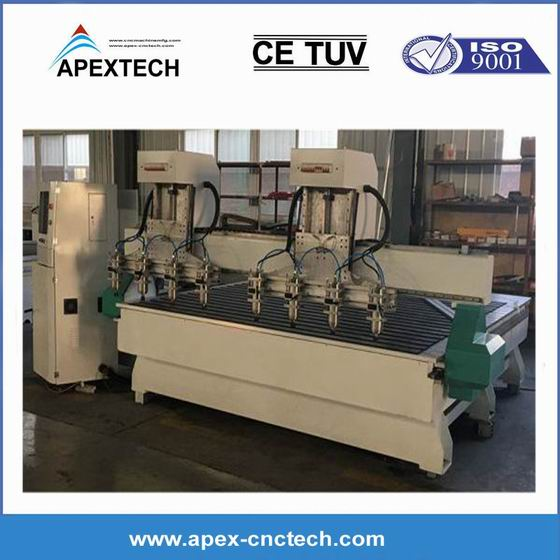 CNC Milling and Drilling Machine for Wood Furniture Cabinet Nesting 3015-8 Spindles router