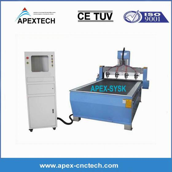 CNC Router Machine 3 Axis Furniture Making cheap price 3D Wood Relief-Carving 1325-CNC Router 4 Head