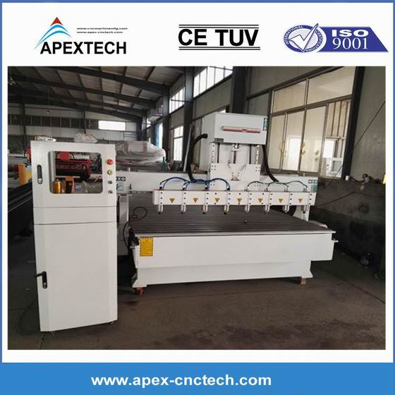 China OEM Taiwan Linear Wood CNC Router 1325 1530 3015-8 Watercooling Spindle