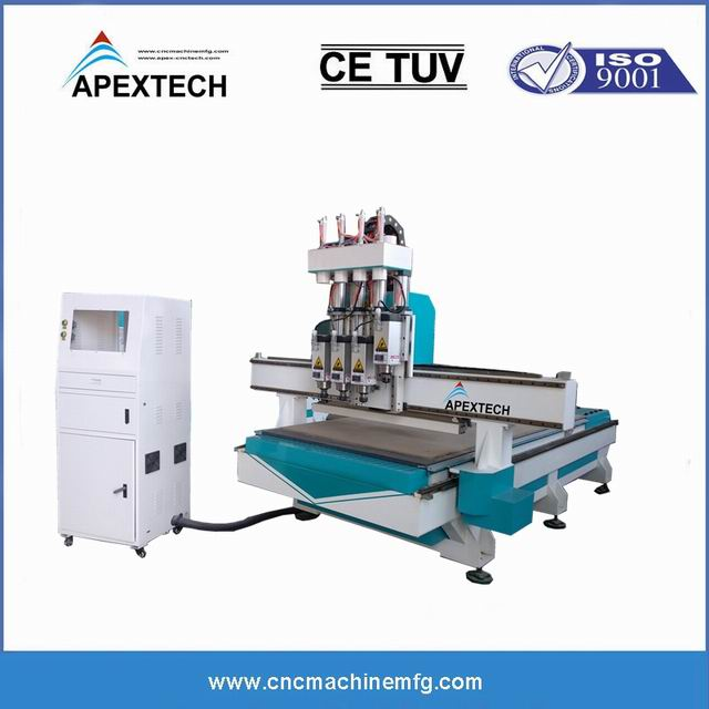 A13253 Spindles ATC 3 Axis Furniture Engraving Wood CNC Router with Auto Tool Changer 1530 2030