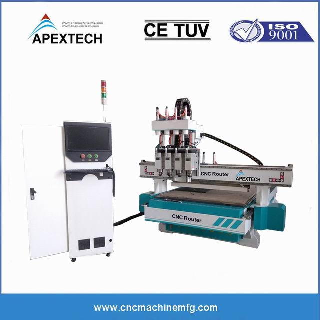 A1325-3 Spindles ATC 3 Axis Furniture Engraving Wood CNC Router with Auto Tool Changer 1530 2030