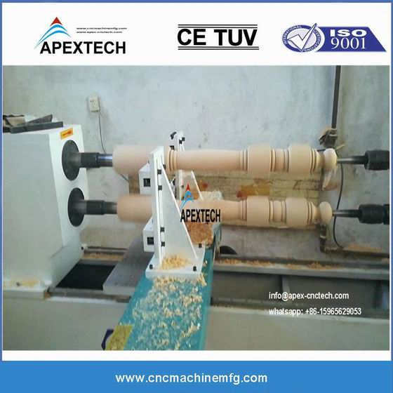 A1516 Double Axises Four Blades Effective Turning CNC Lathe Wood Router machine
