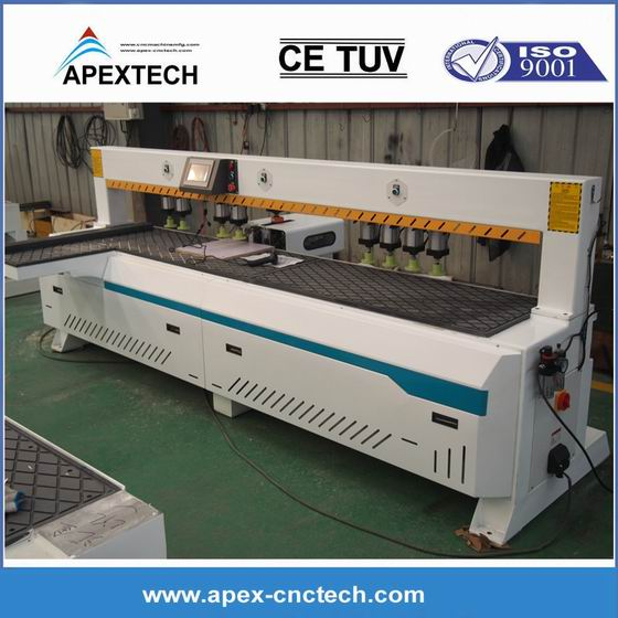 Double spindle laser side hole machine, hole and slot machinery cnc router