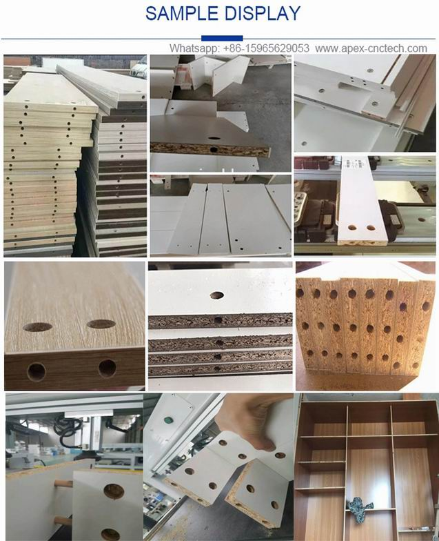 Laser Positioning Sidle Holes Drilling Machine router for the Panel Furniture Making