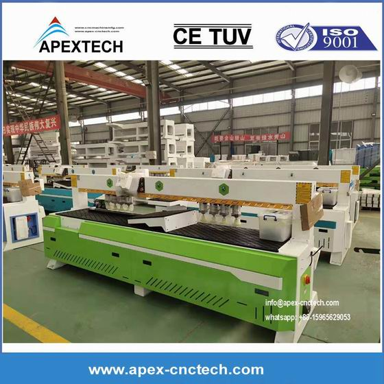 Two Spindles Woodworking Machinery Automatic High Speed Side Hole Drilling Machining
