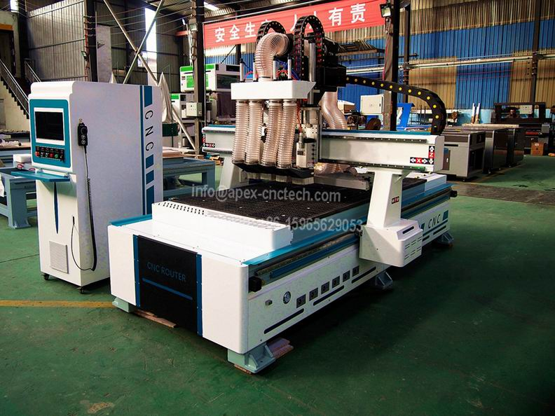 4x8 CNC Machine 1325 Multi Spindles with Pneumatic System