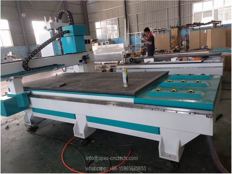 3 Heads ATC CNC Woodworking Machine with Horizontal Spindle
