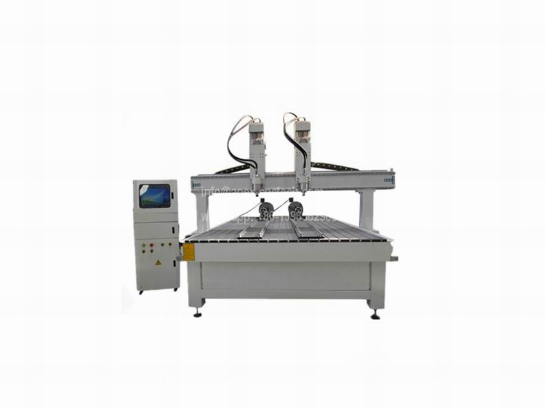 4 axis Multi-head 2030 CNC Router with Rotary Device