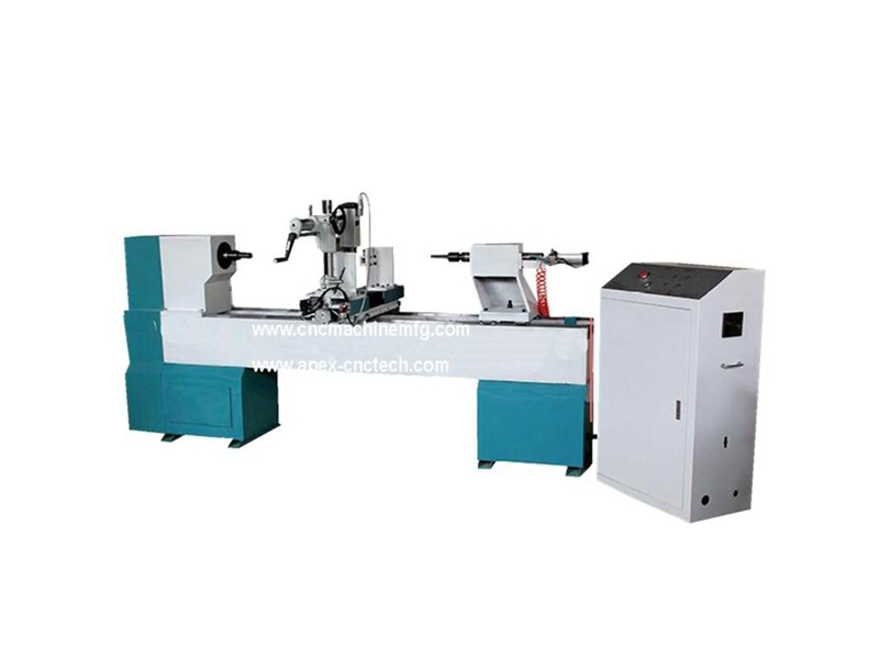 B1530 Single Axis Spindle Hollowing Broaching Carving Wood CNC Turning Lathe