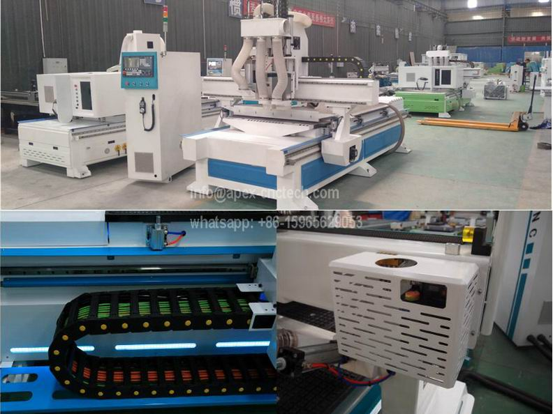 Best 1325 Economical Pneumatic ATC CNC Router with 3 Axis