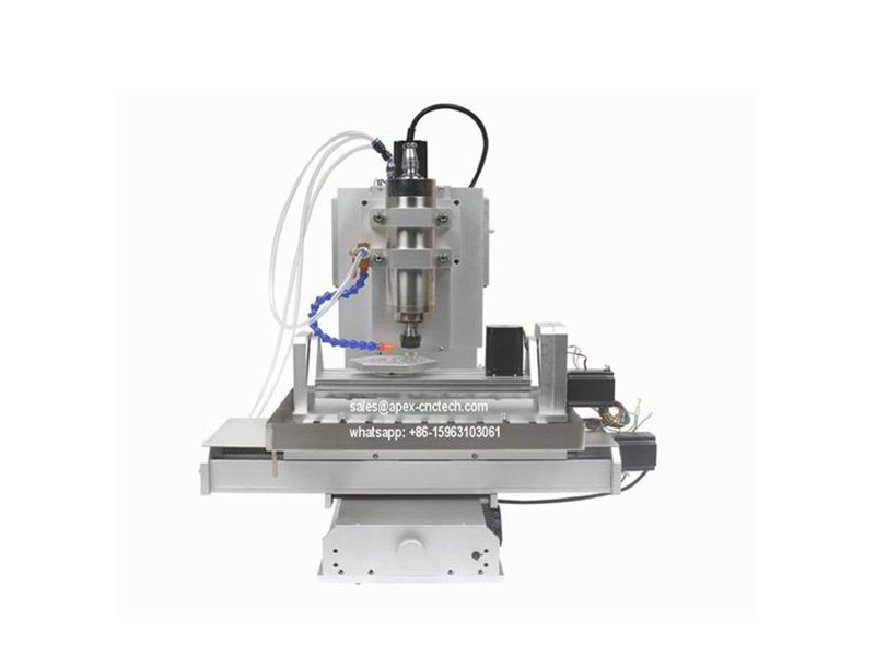 China Mini Desktop 5Axis Hobby CNC Router- 3D Wood Foam Acrylic Engraving Machines
