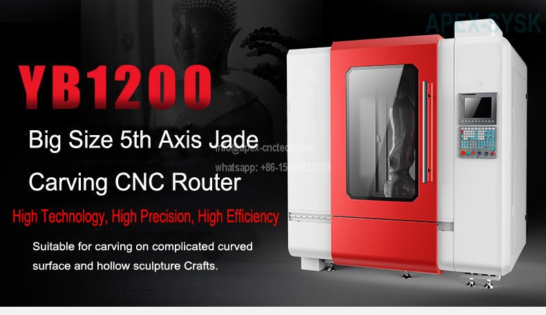 Stone Engraving Machine 5 Axis CNC Router