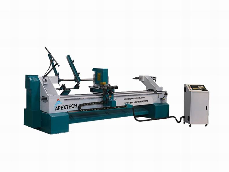 3 axis cnc vertical lathe wood carving machine