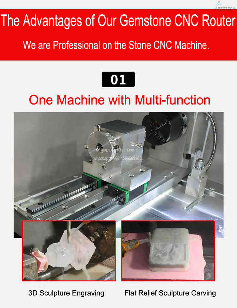 4 Axis CNC Stone Machine at Affordable Price