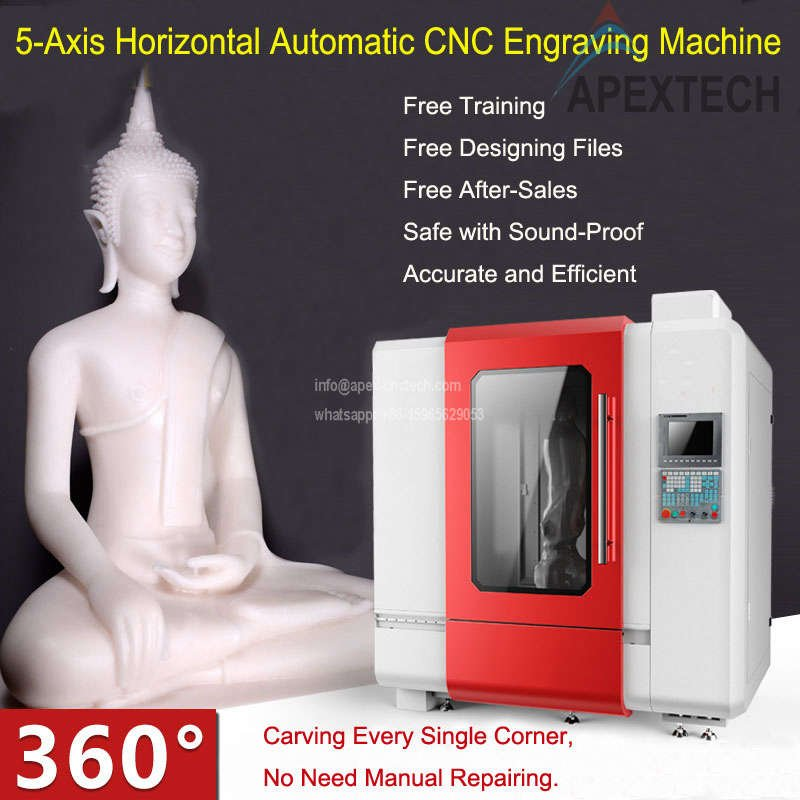 5 Axis CNC Mill Stone Router Machine
