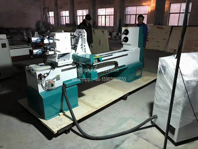 Two Axis 1516 cnc lathe wood cnc machine for table legs